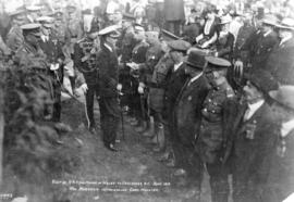 Visit of H.R.H. The Prince of Wales to Vancouver, B.C. September Colonel Markham Introducing Capt...