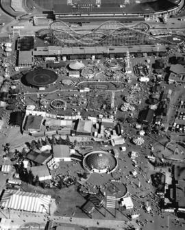 Aerial view of P.N.E. Playland