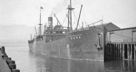 S.S. Kinkasan Maru [at dock]