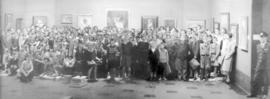 [Group portrait of children attending classes at Vancouver Art Gallery - 1145 W. Georgia Street]