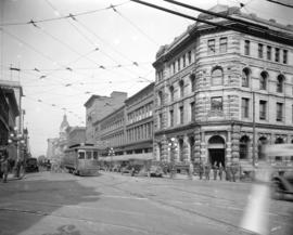 [View of Hastings Street, looking west from Richards Street]