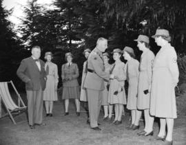 General Pearkes inspecting Red Cross unit
