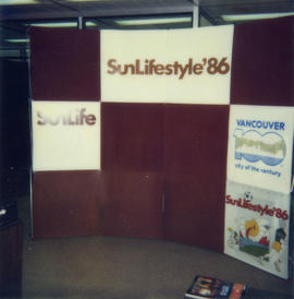 Example of set up for Sun Lifestyle '86 booth