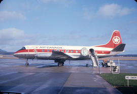 Air Canada Viscount airplane and Y5 ramp on tarmac