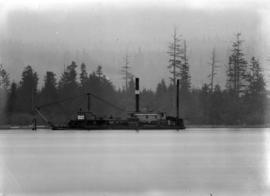 Telephoto [of] dredge [off] Brockton Point