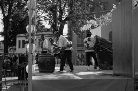 Japanese Taiko group performing at Powell Street Festival