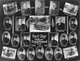 [Composite photograph of] Point Grey Police Department [employees]