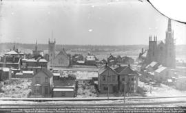 [View of Seymour Street between Dunsmuir and Georgia Streets, showing churches and other building...