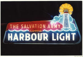 The Salvation Army Corps Harbour Light neon sign