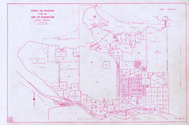 District lot boundaries with the City of Vancouver, British Columbia, D.L. map 40