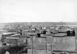 [Eastern view from Richards Street of the buildings between Cordova Street and Hastings Street]