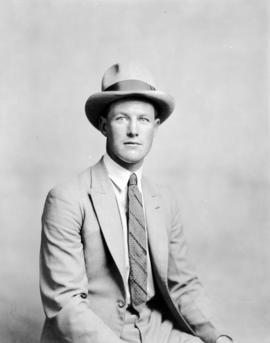 Portrait of unidentified man in cowboy hat