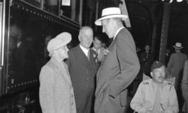 [Lord Halifax with friends at the C.P.R. Station during his visit to Vancouver]