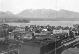 [Looking northwest from Georgia Street from the roof of the Hotel Vancouver]