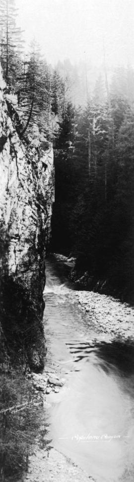 [Cliff and river], Capilano Canyon