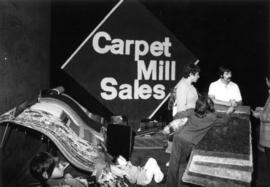 Carpet Mill Sales display