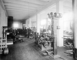[Interior of The Canadian Fairbanks Co. Ltd. machine shop - 101 Water Street]