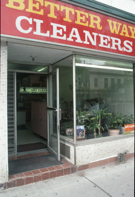 Better Way Cleaners storefront on Queen Street East, Toronto