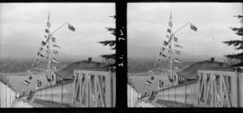 [Flags at the Signal Station at Prospect Point]