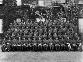 Group portrait of officers at Staff College, Camberley, England