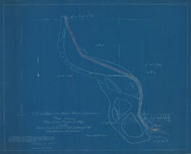 Plan shewing pipe line right of way through parts of [District] Lots 673, 792, 1248 & 8740