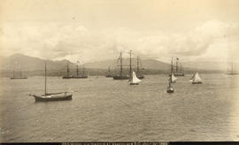Vessels in Harbor at Vancouver, B.C.