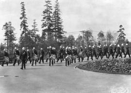 [6th Regiment, The Duke of Connaught's Own Rifles, Bugle Band marching at the Alaska-Yukon-Pacifi...