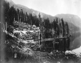 Coquitlam Dam [showing] view of tunnel camp