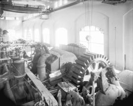 [Interior view of partially constructed Buntzen Lake Power Plant number two]