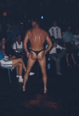 Striptease performance