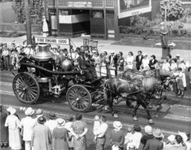 Vancouver Fire Department horse drawn steam fire engine in parade