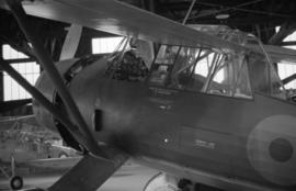 [Cockpit of an Westland Lysander plane]