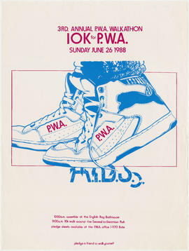 3rd annual P.W.A. [Persons With AIDS] walkathon : 10K for P.W.A. : Sunday, June 26, 1988