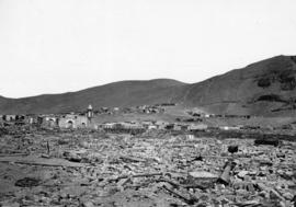 Ruins of Town of Arica South America after [the] earthquake of 1868