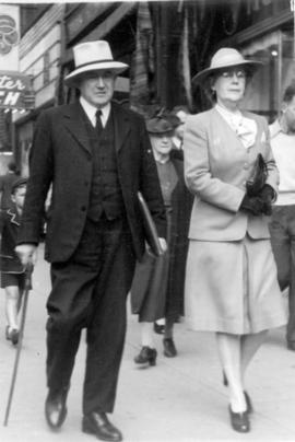 [Major Matthews and Emily Matthews at Granville & Robson]