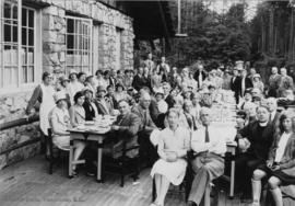 Wesley choir picnic supper, June 22nd 1929 Stanley Park, Vancouver, B.C.