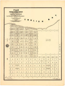 Plan of Provincial Government property being a portion of Townsite of Vancouver