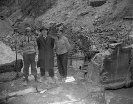 Mr. J. Collins and superintendants at Hell's Gate fish ladder construction