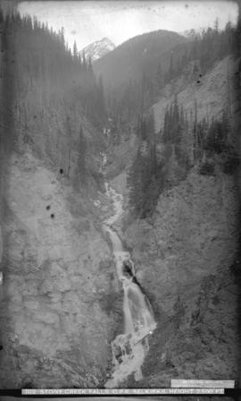 Stoney Creek Falls. C.P.R. Selkirks. Height 2500 ft.