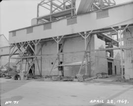 Construction of new melting house: exterior view