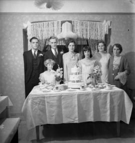 [Unidentified wedding party]