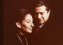 Maria Callas and unidentified man