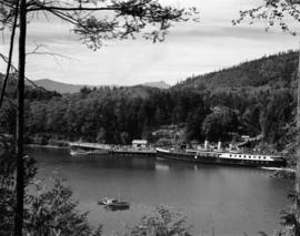 ['Lady Alexandra' docked on Bowen Island]