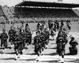 [The closing ceremonies for the British Empire and Commonwealth Games at Empire Stadium]