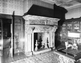 "Fireplace in the library at ""Hycroft"""