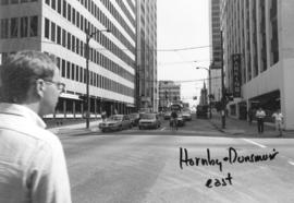 Hornby and Dunsmuir [Streets looking] east