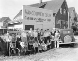 6th Avenue and 6th Street New Westminster [showing Vancouver Sun Carrier Service Department No. 4...