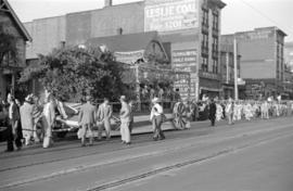 [Japanese float in coronation parade in the 300 Block of East Hastings Street]