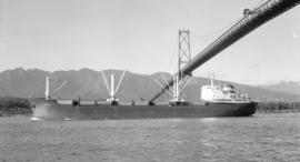 M.S. Briem [passing under Lions Gate Bridge]