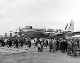 "[Canadian Pacific Airlines christening of the ""Empress of Vancouver""]"